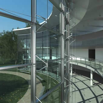 Glasswave Multiaxial curtain wall system