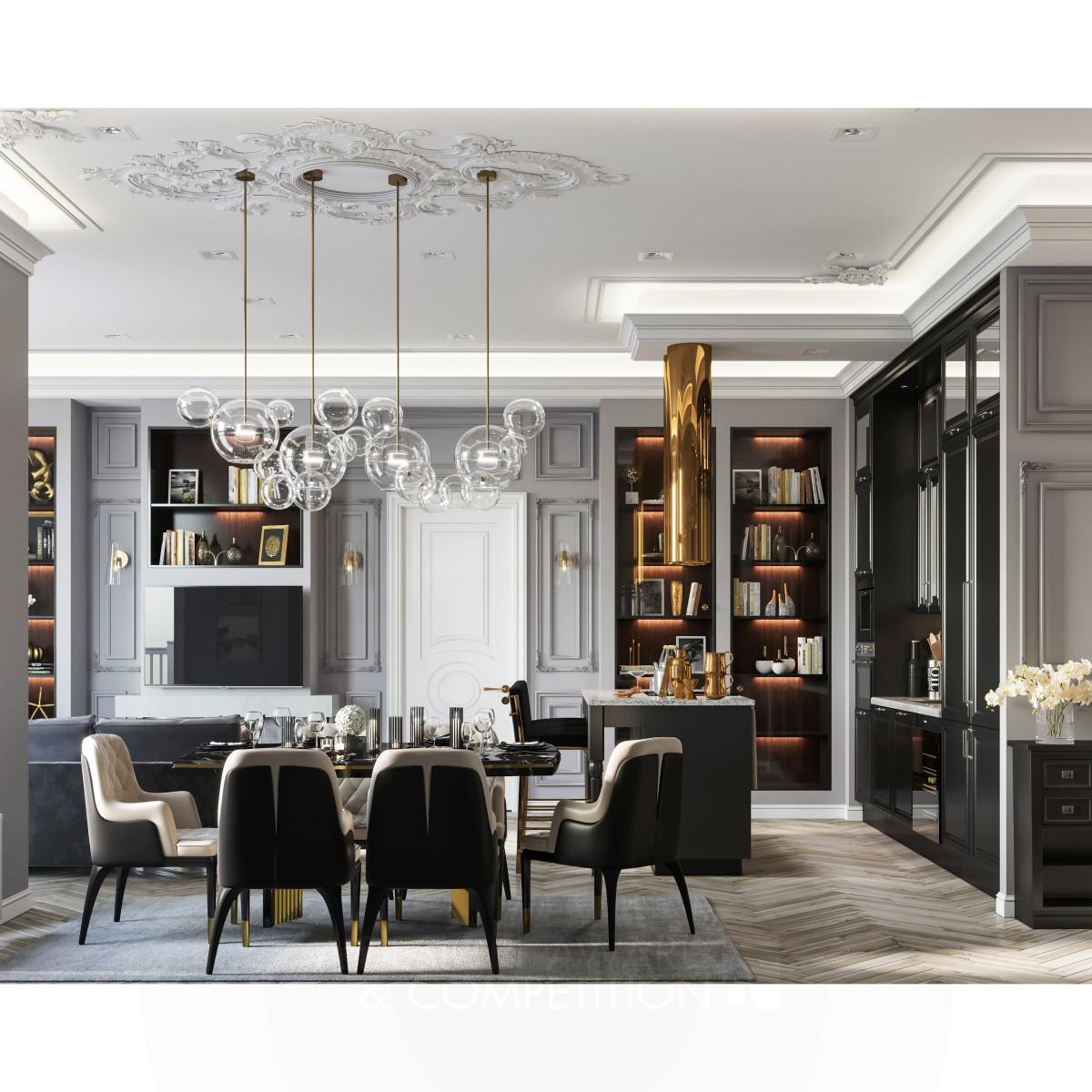 Gray and Gold interior design