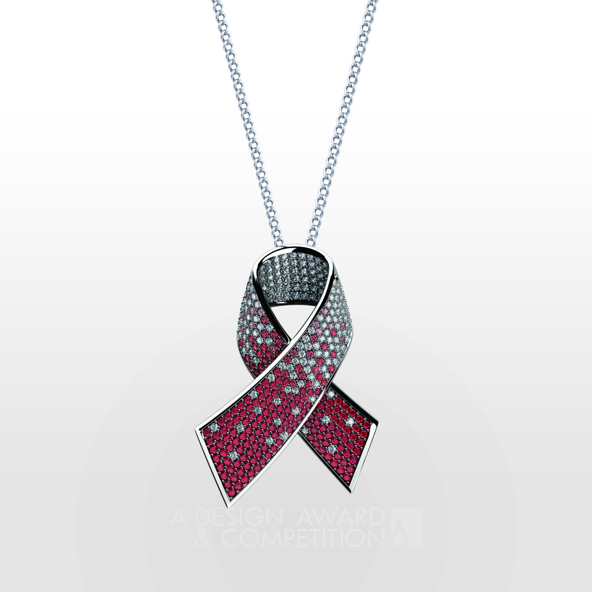 Alliance against AIDS Diamond Pendant