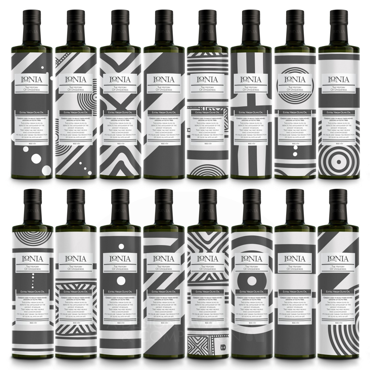 Ionia Olive oil packaging