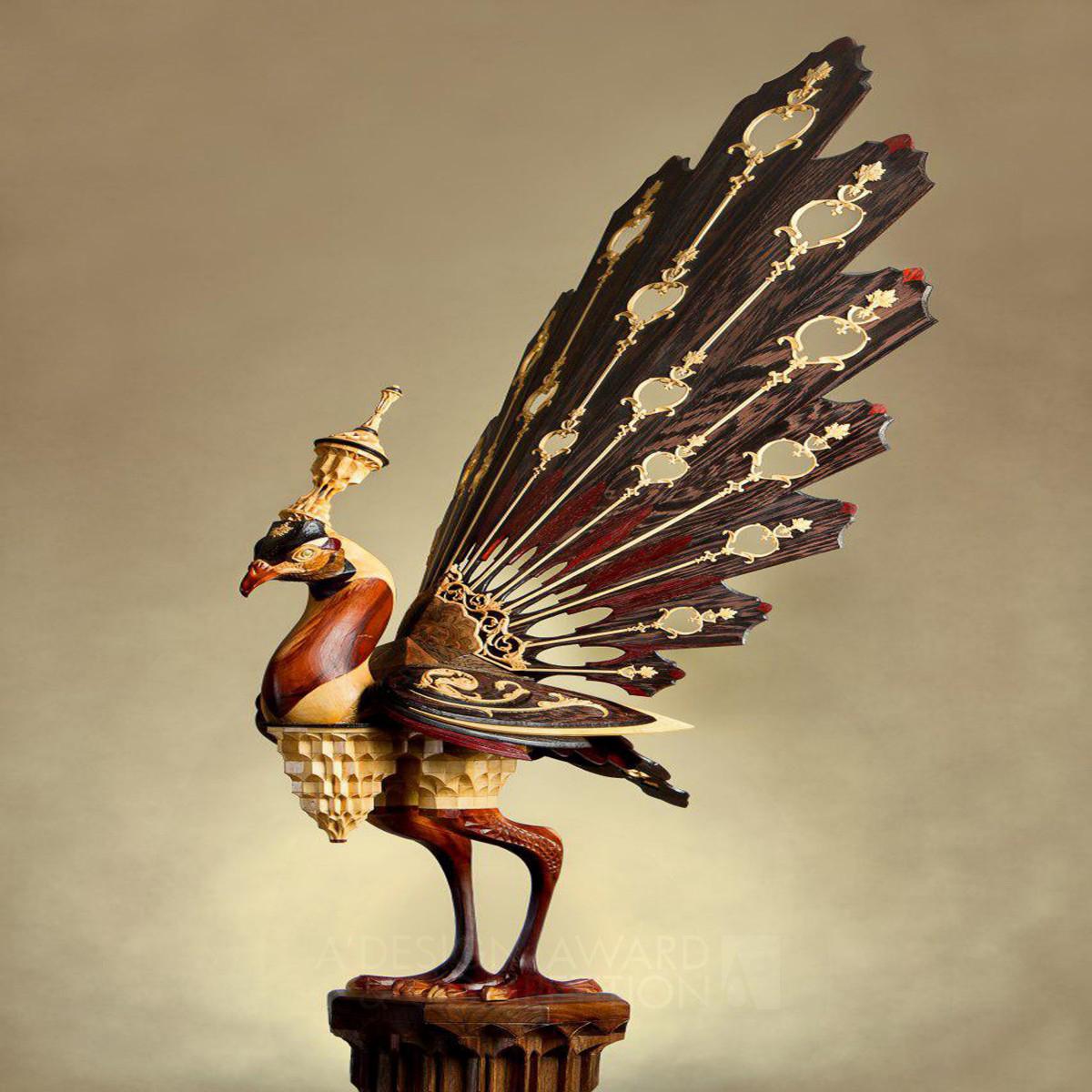 The Bird from Paradise Wooden Sculpture