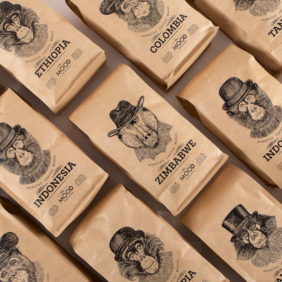 The Mood Coffee Packaging