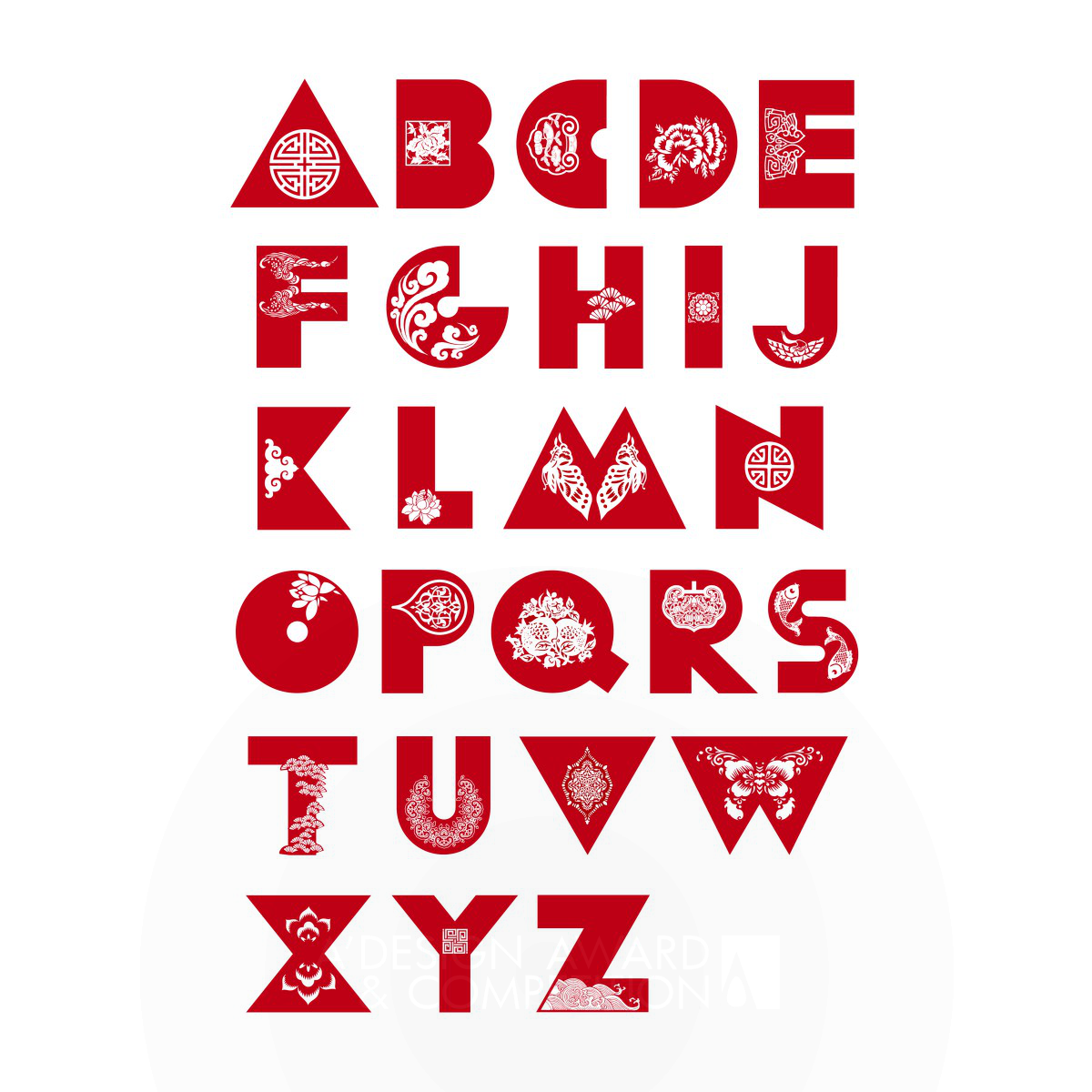 Chinese Paper Cutting Typeface