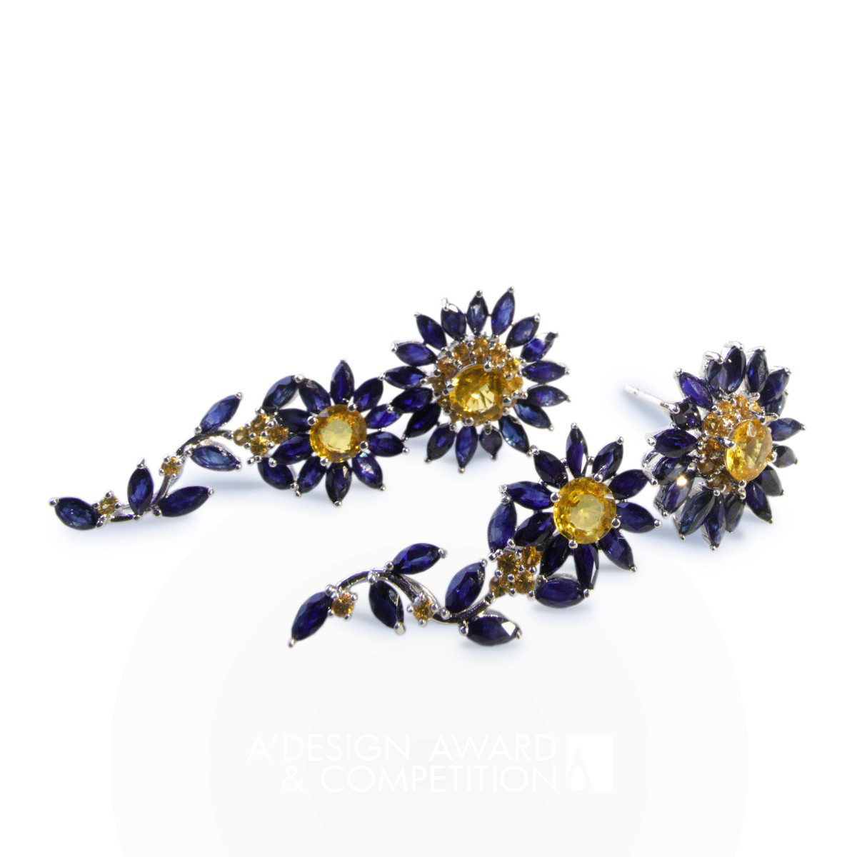 Blue Daisy Multifunctional Earrings