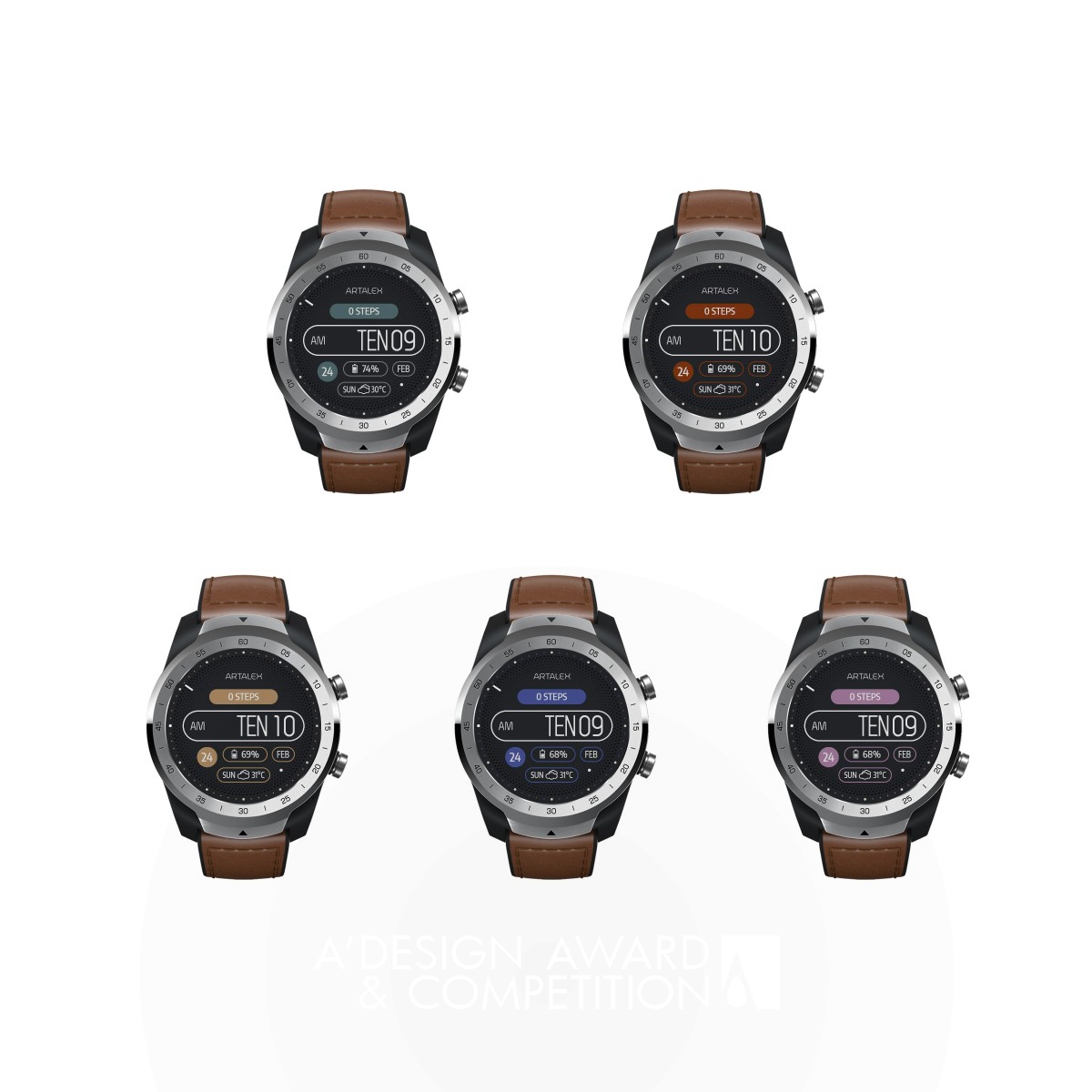 The English Numbers Smartwatch Watch Face