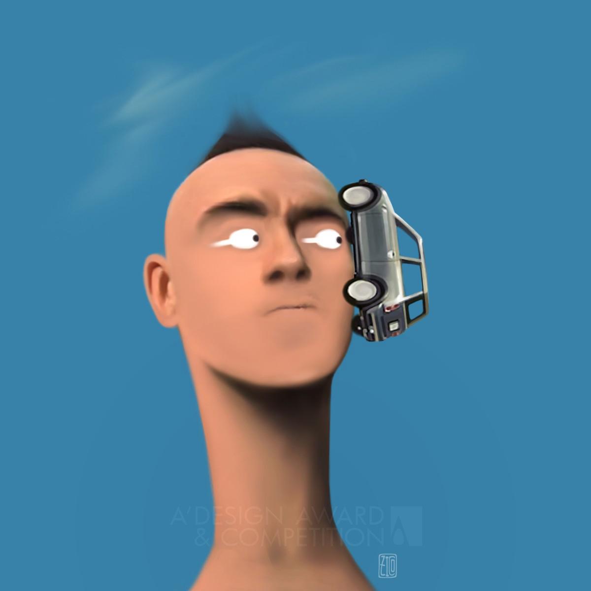 Crazy Head Digital Art