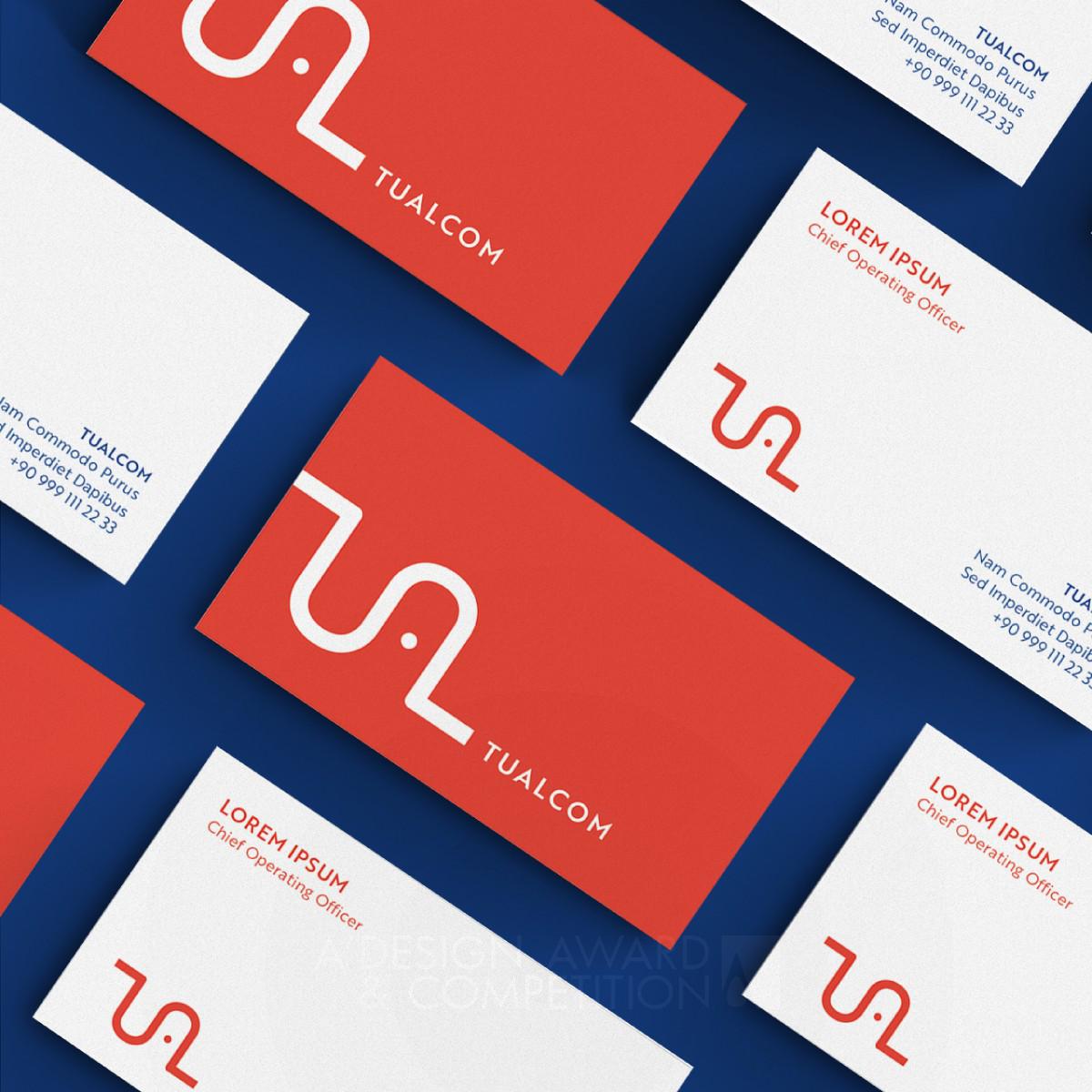 Tualcom Logo and Brand Identity