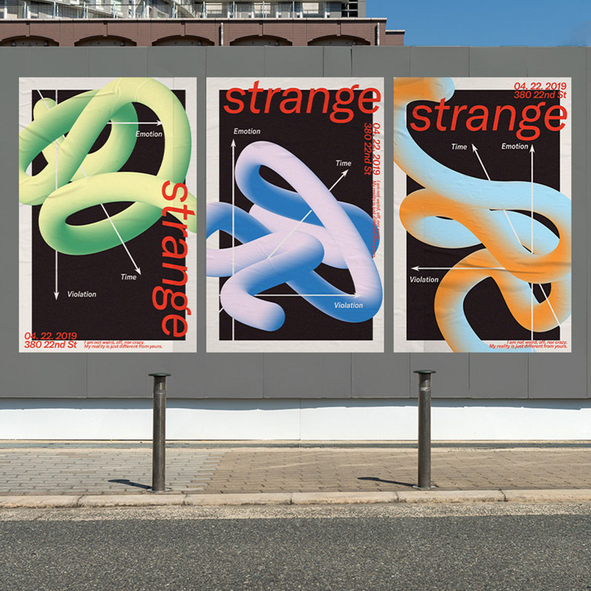 Strange Poster Series