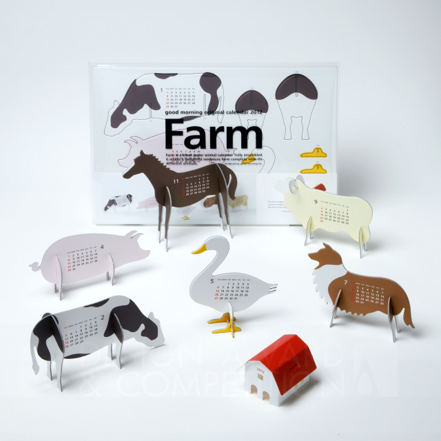 "good morning original calendar 2012 ""Farm"" Kalendaro"