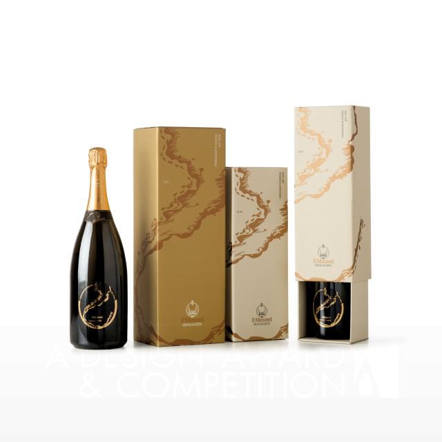 Il Mosnel QdE 2012 Şampanya Etiketi ve Kutusu