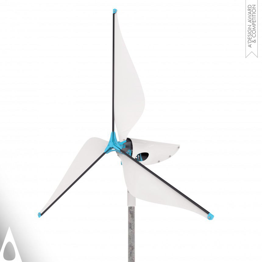 Wireframe Affordable wind turbine