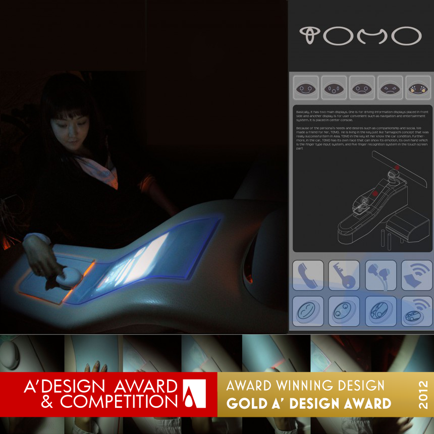 TOMO branding & interface design interface system for future car