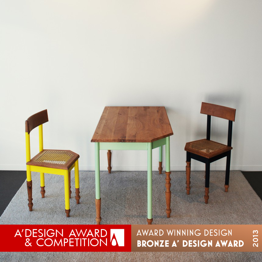 Hoek af table, chairs