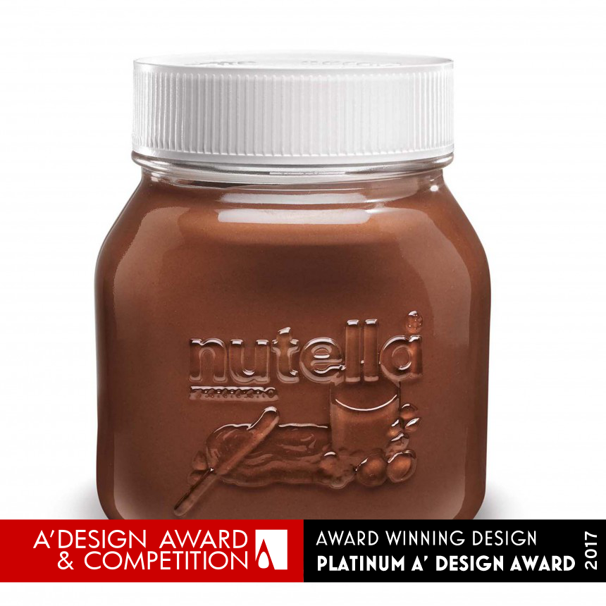Embossed Nutella Jar for spreadable cream