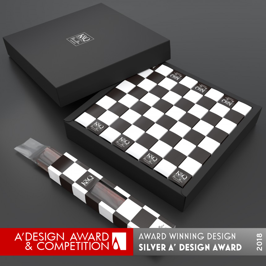 K & Q Chess stick cake packaging