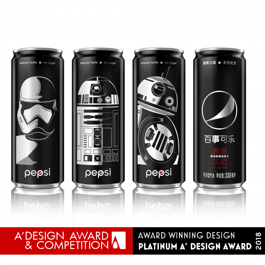Pepsi Black x Star Wars LTO China Brand Packaging