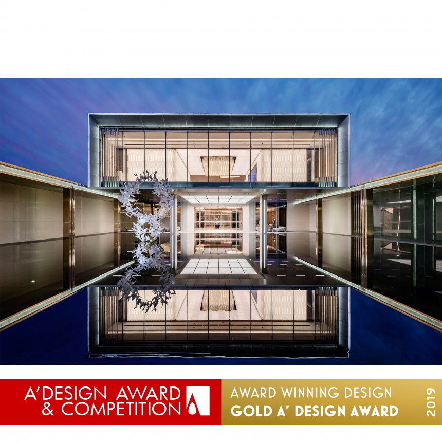 A Design Award And Competition Kris Lin Light Cube Club House,Modern Luxury Simple Living Room Lighting Design