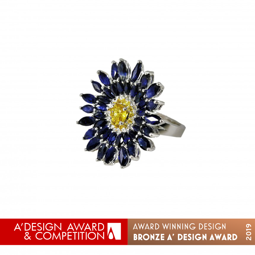 Blue Daisy Multifunctional Ring