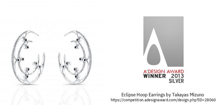Eclipse Hoop Earrings Cov Hniav Nyiaj Hniav Kub-Qhwv Ntsej