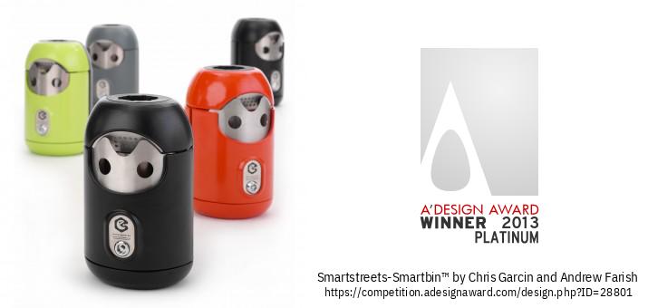 Smartstreets-Smartbin™ Mae Bin Sigarét / Gwm