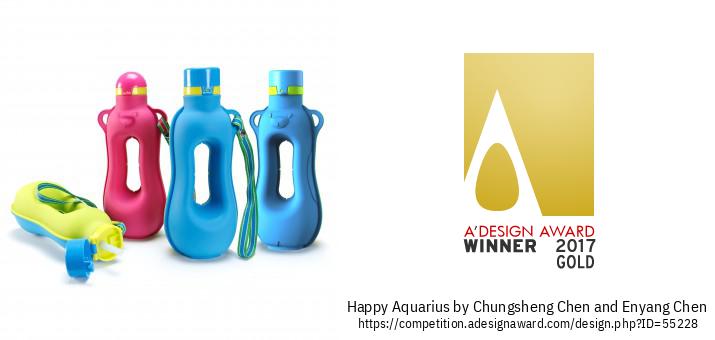 Happy Aquarius  ขวดน้ำซิลิโคนออกกำลังกาย