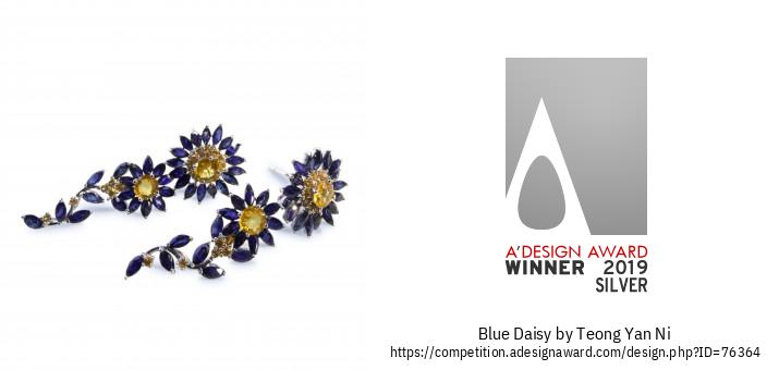 Blue Daisy Daugiafunkciai Auskarai