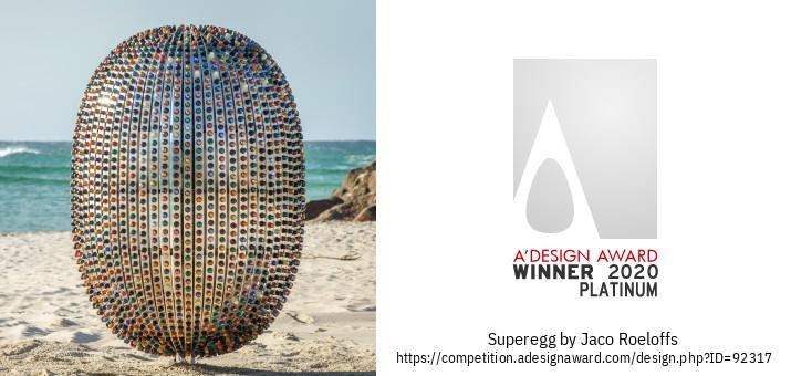 Superegg मूर्तिकला स्थापना