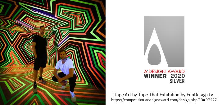 Tape Art การออกแบบนิทรรศการ