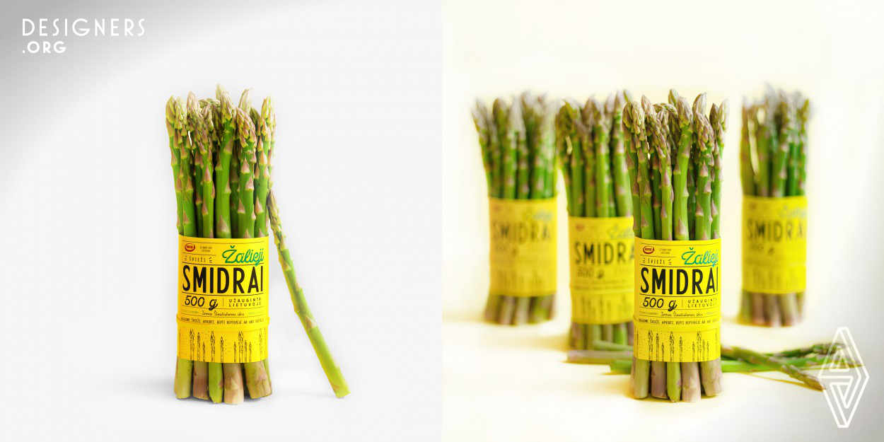 Green Asparagus Packaging Design Designers Org