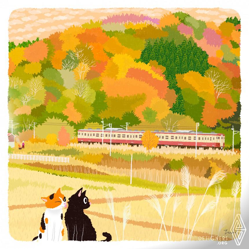 Tabineko Illustration Calendar Image
