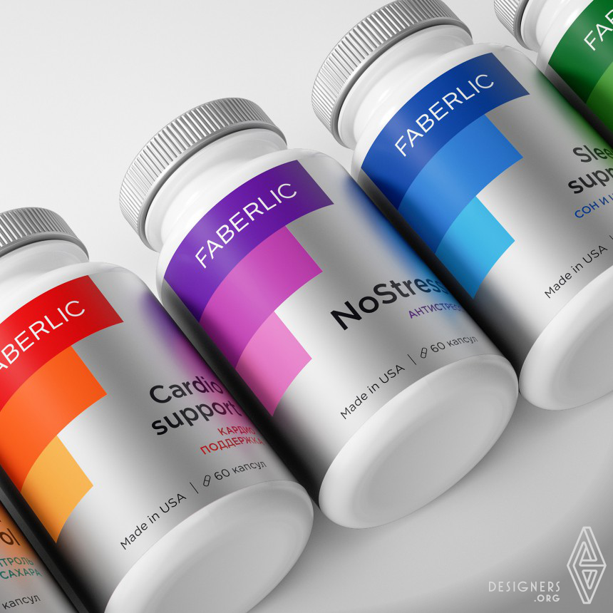 Faberlic Supplements Packaging Concept Image