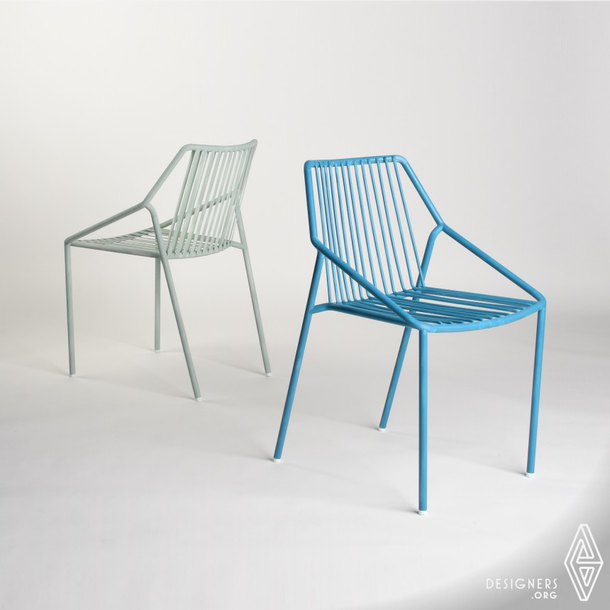 Tomeo Outdoor Metallic Chair Image