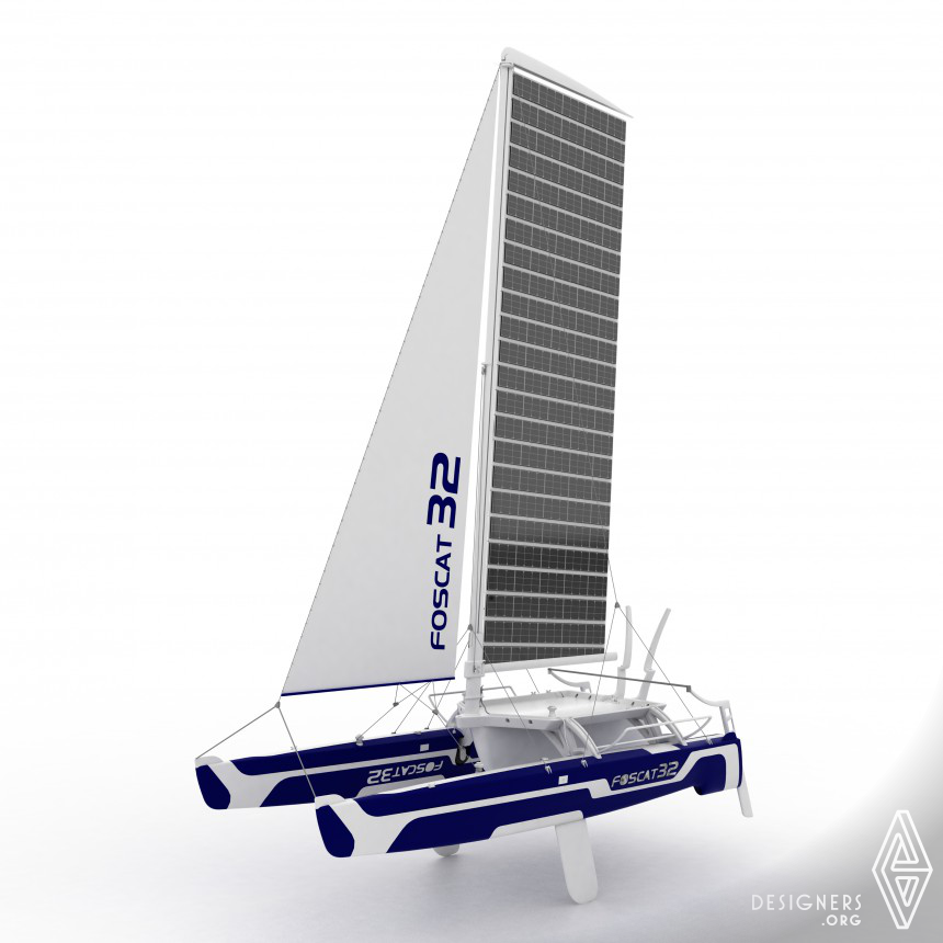 Foscat-32 Folding Solar Catamaran