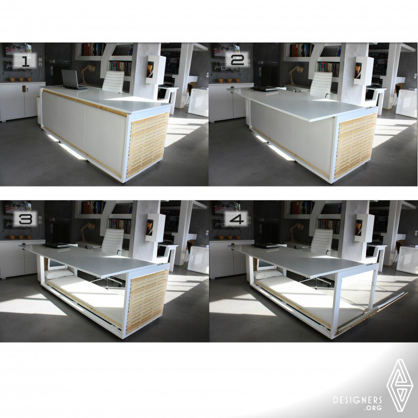1,6 S.M. OF LIFE DESK CONVERTIBLE TO BED