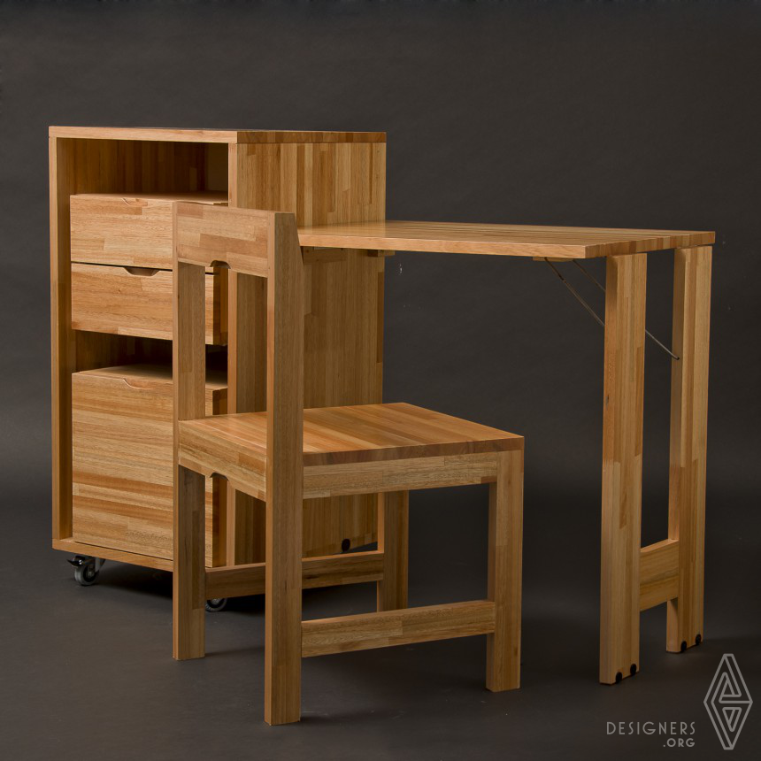 Ludovico Office Drawer, Chair & Desk Combo Image