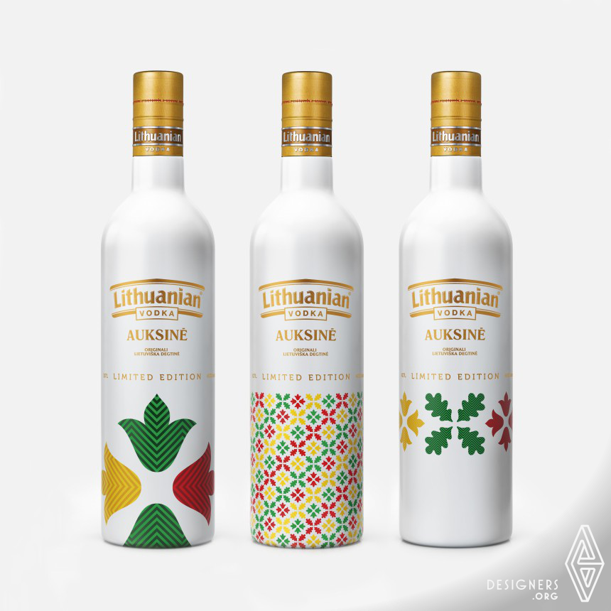 Lithuanian Vodka Gold Limited Edition Vodka bottle