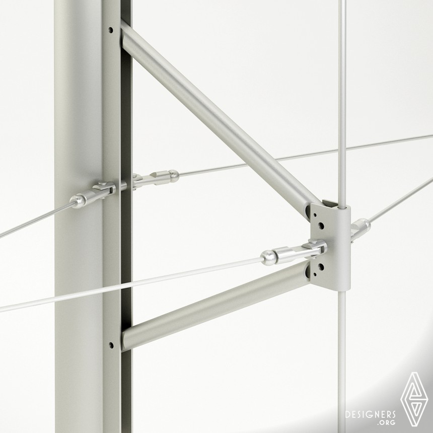 GLASSWAVE Multiaxial curtain wall system Image
