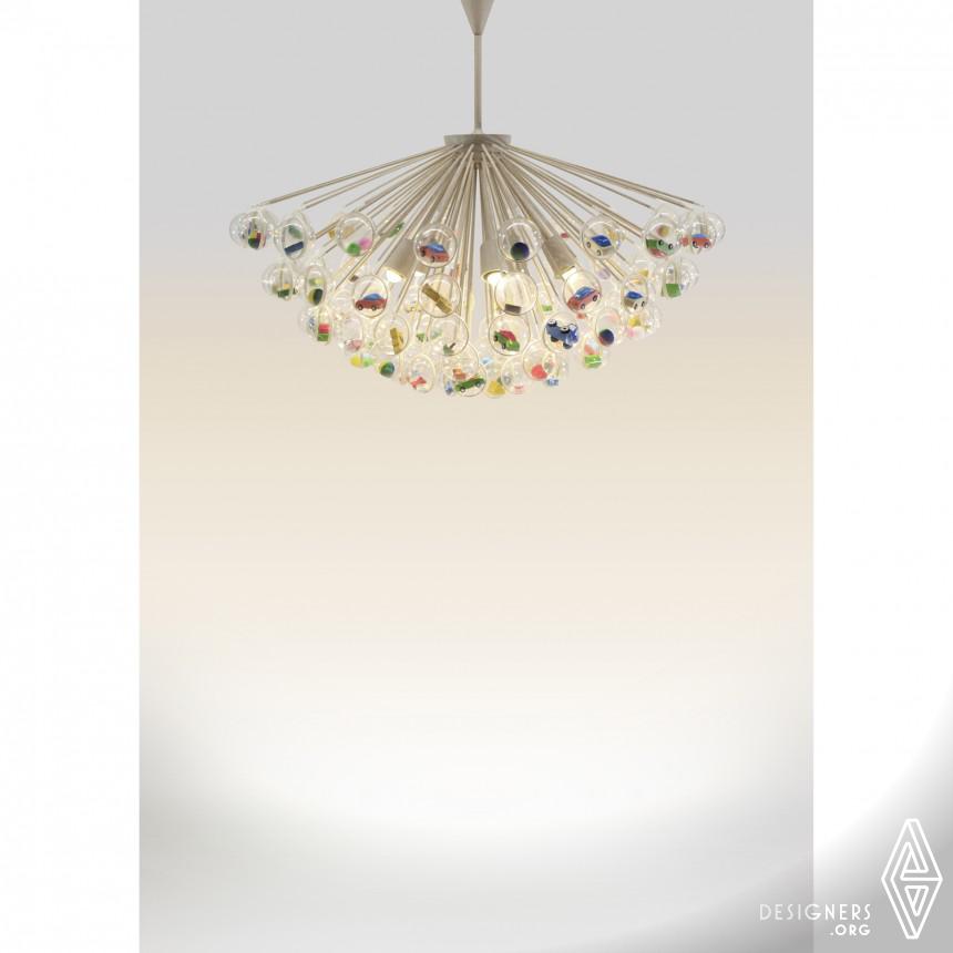 Capsule Lamp Pendant lamp with hanging capsules Image
