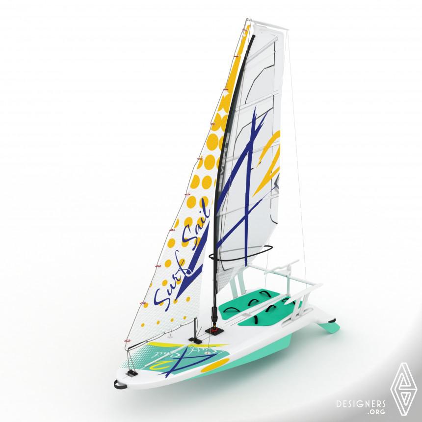 SurfSail42 Sailboard for windsurfing and sailing