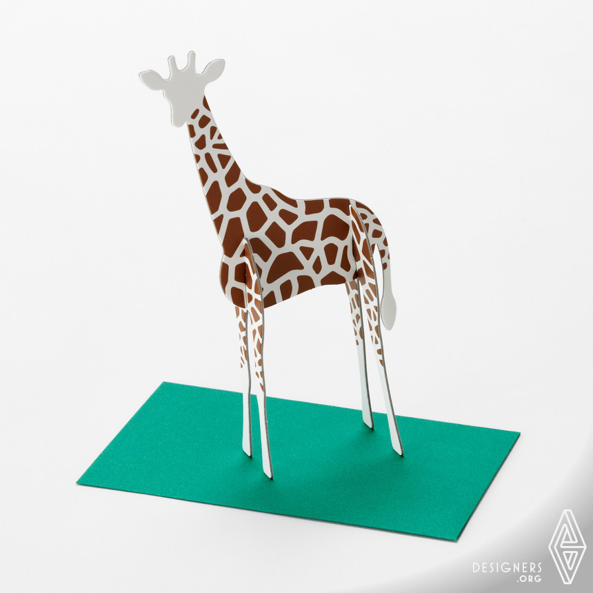 """Standing Message Card """"Post Animal"""" Message Card Image"""