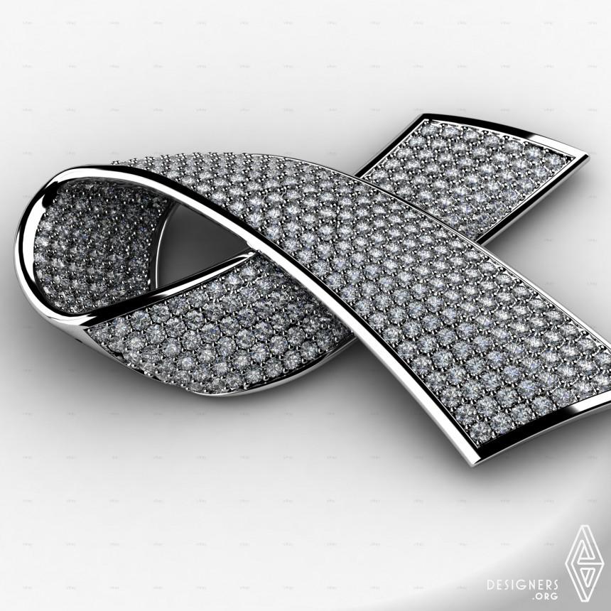 Alliance against AIDS Diamond Pendant Image