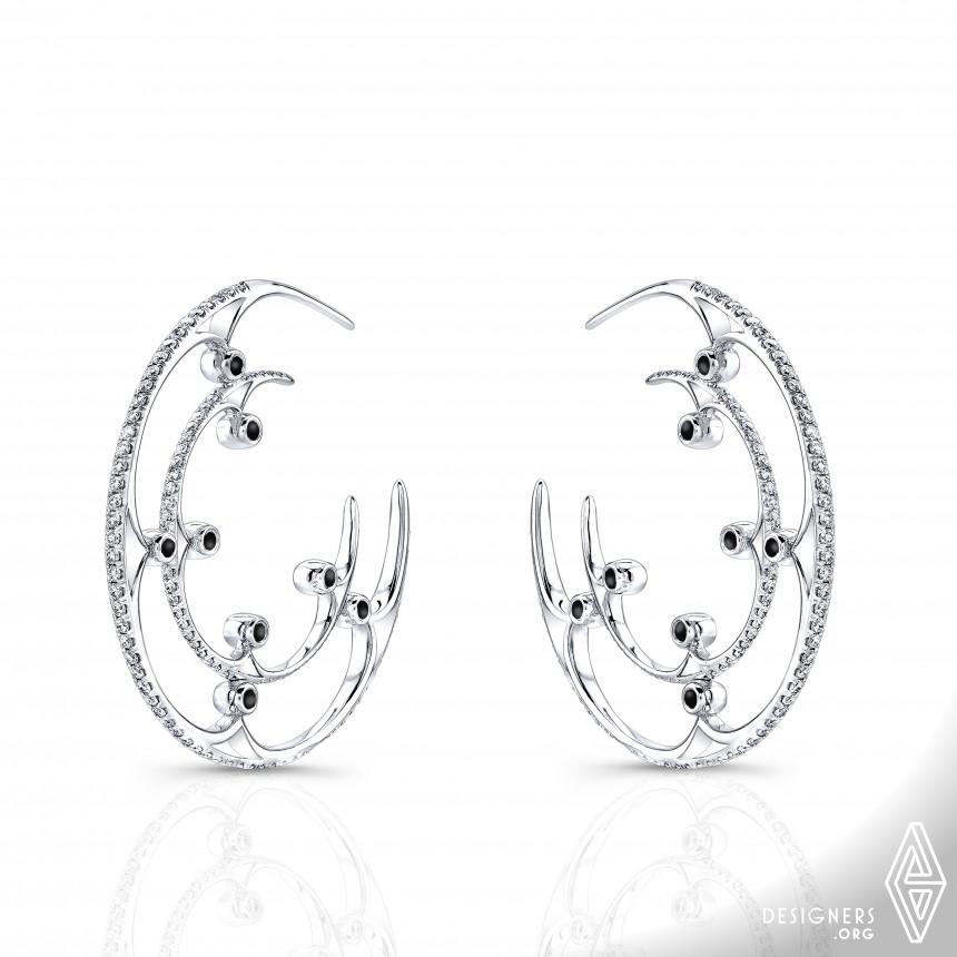 Eclipse Hoop Earrings Jewelry-Earrings
