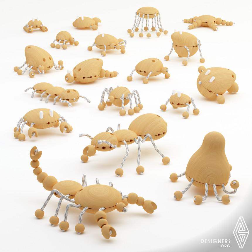 Creative Wooden Creatures Wooden Toy