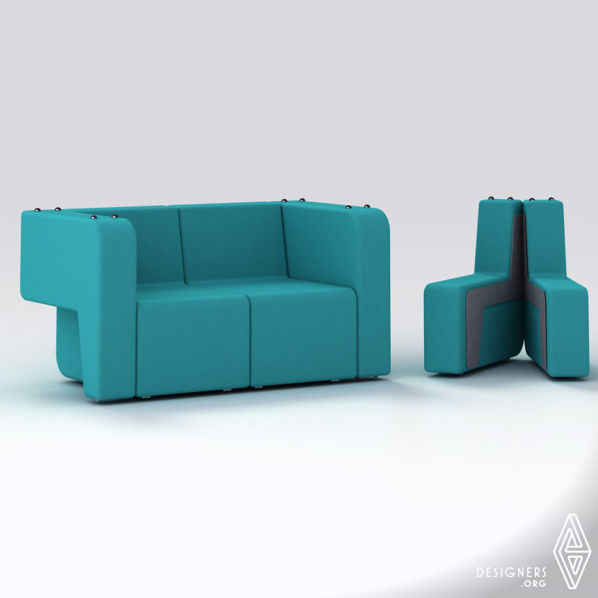 Mäss Transformable sofa.