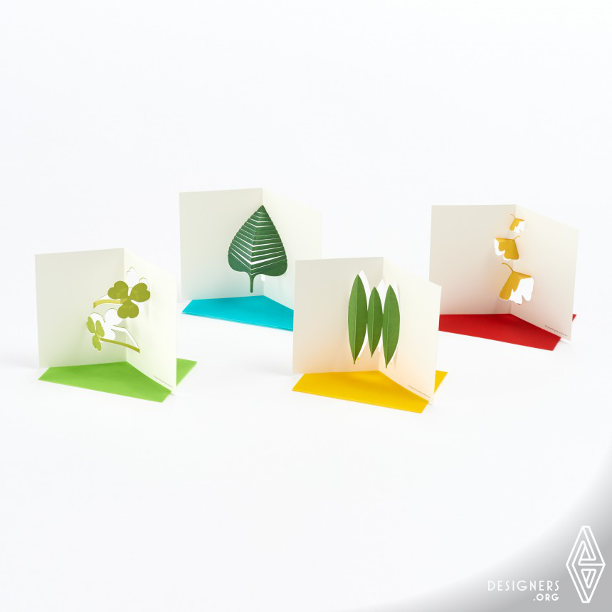 """Pop-up Message Card """"Leaves"""" Message Card"""