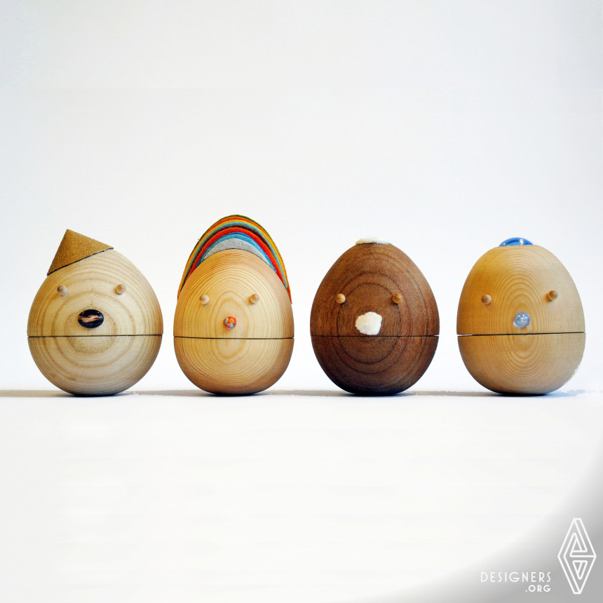"""Tumbler"""" Contentment """"  Roly Poly, movable wooden toys,"""