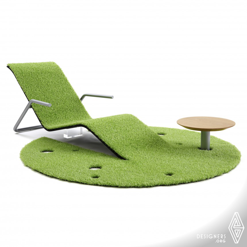 Turf rug lounger Lounge chair