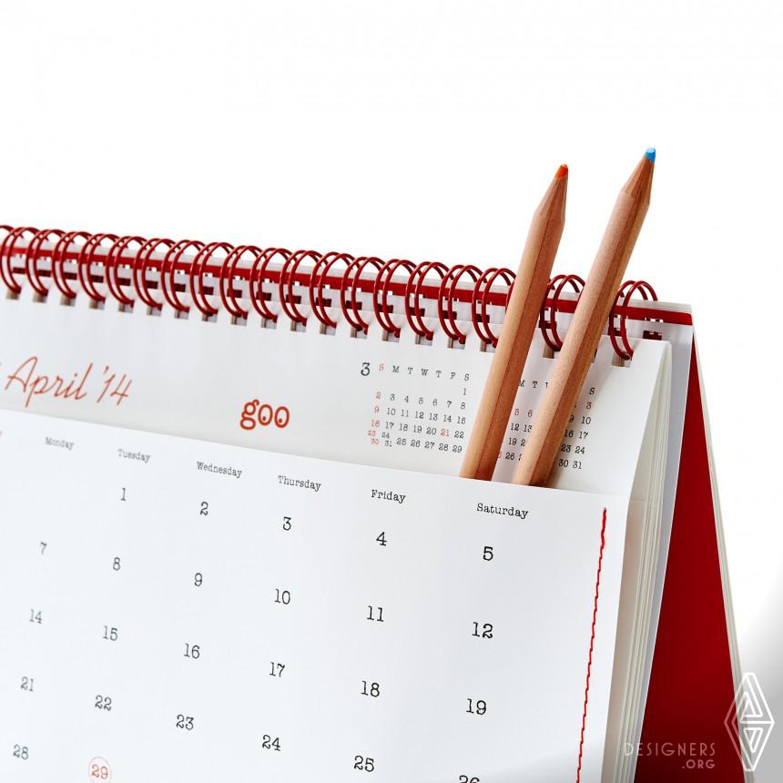 "17th goo Calendar ""12 Pockets 2014"" Calendar Image"