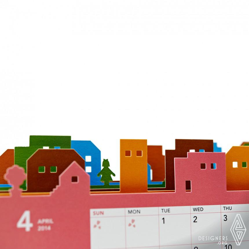 "NTT EAST 2014 Calendar ""Happy Town"" Calendar Image"