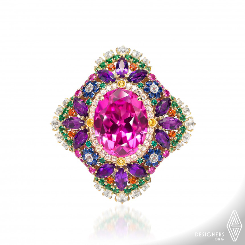 The Great Goddess Isida Diamond Ring